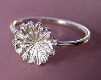 Poppy Flower Ring in Sterling Silver