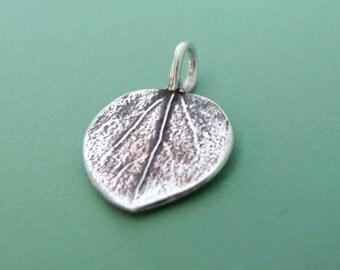Aspen Leaf Charm in Sterling Silver - Tiny Aspen Pendant