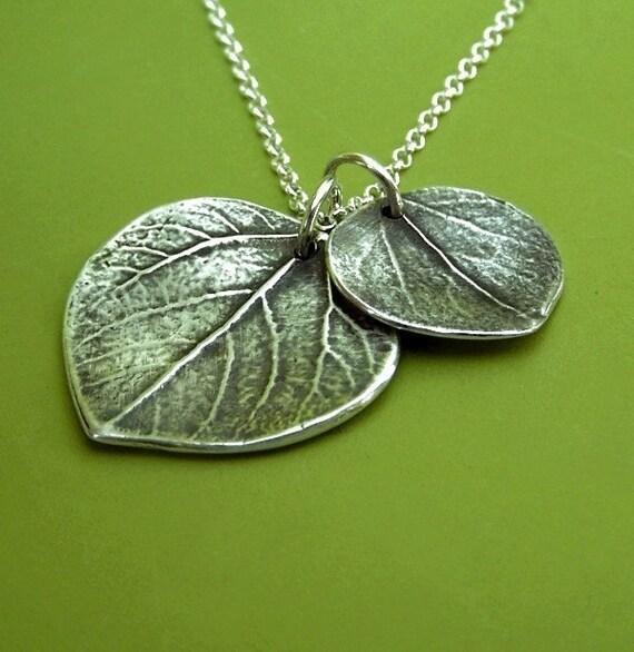 Mother and Child Aspen Leaf Necklace