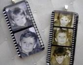 Personalized Custom Photo Pendant - Film Stars - Glass Rectangle Pendant - Your Photos