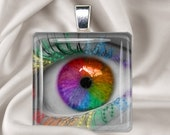 Beauty is in the Eye of the Beholder - Glass Tile Pendant