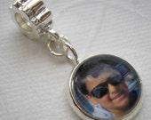 Custom Photo Charm - Large Hole Bead - Fits Popular Brand Bracelets