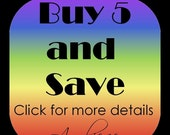 Buy 5 and SAVE - Buy 5 Square or Round Glass Pendants and save almost 15 percent - 18 Inch Silver ball chain included