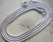 18 inch, 22 inch or 26 Inch Sterling Silver Plated Snake Chain