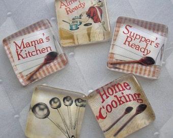 Mama's Kitchen -   Glass Tile Magnet Set