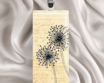 Waiting for a Wish - Glass Tile Pendant