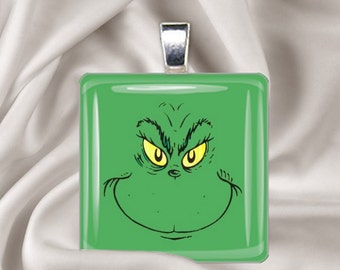 You're a Mean One, Mr. Grinch - Glass Tile Pendant