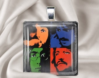 Let it Be - The Beatles - Glass Tile Pendant Necklace