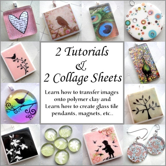 2 Tutorial Combo Pack with 2 Digital Collage Sheets - Instant Download