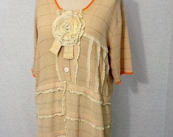 Vintage 40's Lace Rosette Dress