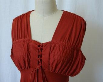 Vintage Rust 70's Dress