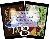 Alice in Wonderland 4x6 Mini Prints Set of 8 Your Choice, By Alexandria Sandlin