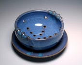 Small Berry Bowl - Blue and Teal Pottery