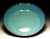 HOLD for HEATHER - Small Pasta Bowl - Blue and Teal Pottery