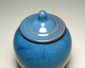 Sugar Bowl - Blue and Teal Pottery
