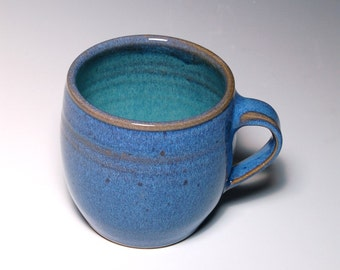 One Small Mug - Blue and Teal Pottery