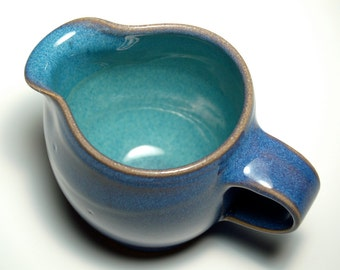 Creamer - Blue and Teal Pottery