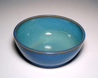 Serving Bowl - Blue and Teal Pottery