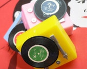 3pcs Vintage 70s STACK RECORD PLAYERS Plastic Kitsch