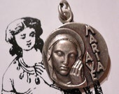 60s Vintage AVE MARIA MEDAL Fatima Religious
