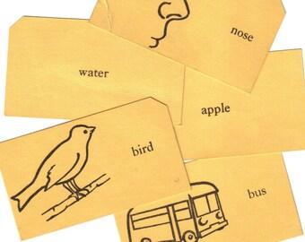 4pcs VINTAGE FLASH CARDS Retro Pictures