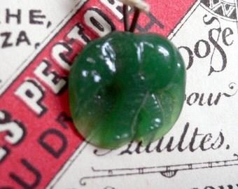 30s Antique Tiny GLASS ELEPHANT CHARM Jade Color
