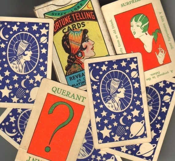 Vintage 1920s GYPSY LORE Fortune Telling Card