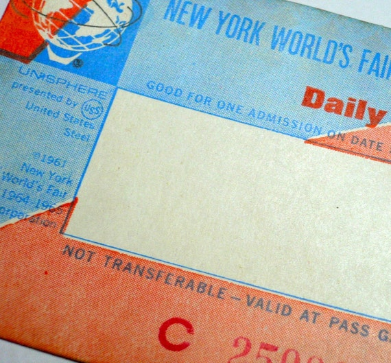WORLD'S FAIR Ticket 1964-65 New York Daily Pass