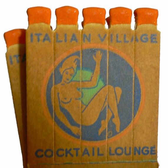 5pcs SINGLE FIGURAL MATCHES 40s Vintage Uncommon Altered Art Supplies Mature