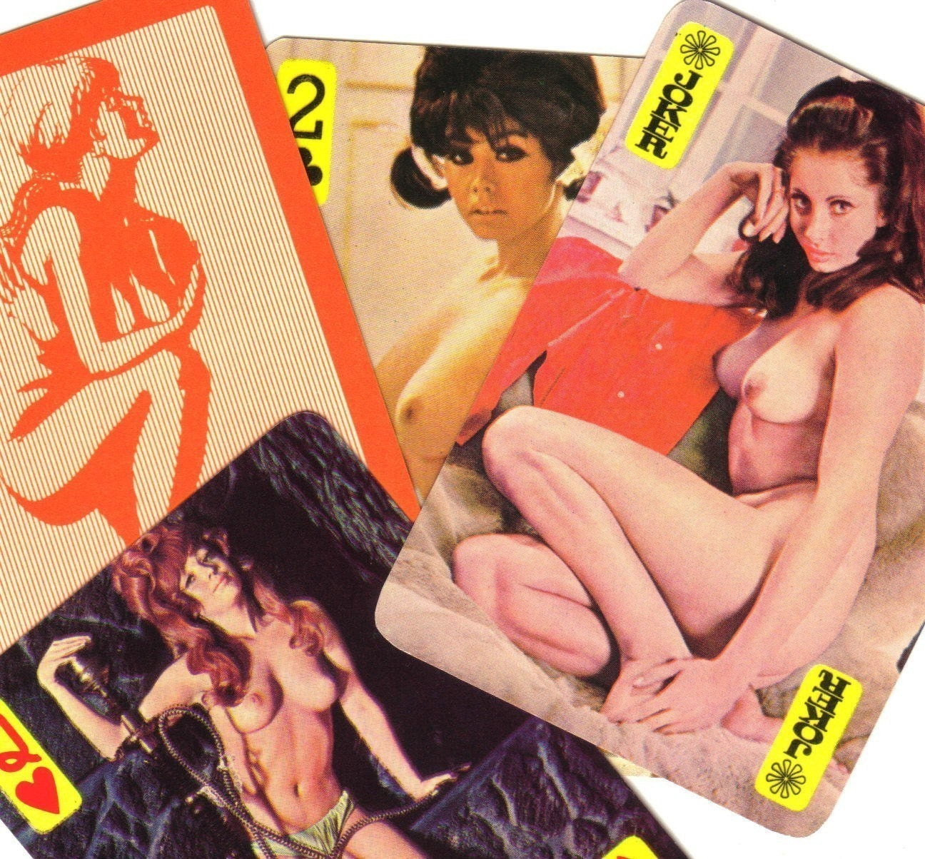 5pcs 60s Vintage Amateur NUDE CARDS A Riot MATURE