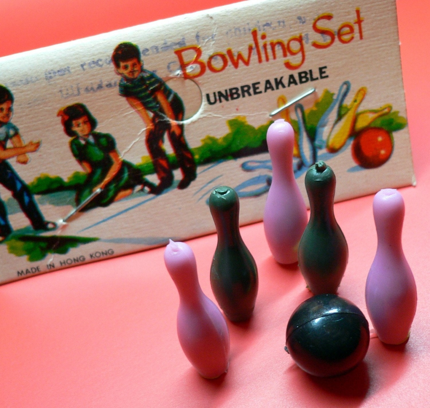 3pkgs MINIATURE BOWLING SETS Vintage Plastic Party Favors