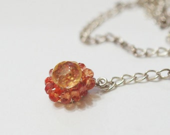 Charmed Luxe CITRUS yellow Citrine Orange Sapphire gemstone Sterling Silve Charm