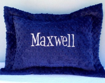Personalized Minky Pillow , Toddler Pillow Sham