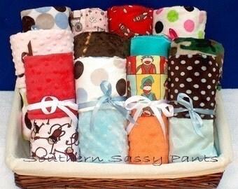 Personalized Toddler Bed Blanket , Custom Toddler Bedding -  Minky Blanket - Design Your Own , Children