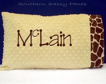 Personalized Toddler Pillowcase - Minky Pillowcase - You Design , Pillowcase Only