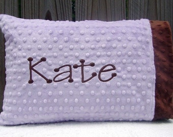 Personalized Toddler Pillow - Toddler Pillowcase , Minky Baby Pillowcase