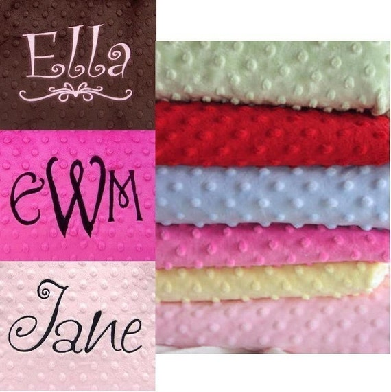 Personalized Baby Blanket Embroidered Minky Baby Blanket For