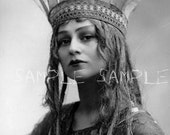 no405 VINTAGE photograph DIGITAL Download - RARE vintage photograph - Beautiful Victorian Woman >> French Princess Actress