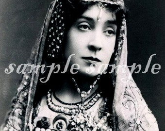 no601 instant DIGITAL DOWNLOAD - VINTAGE photo - Collage Sheet - Antique - French - Victorian Actress