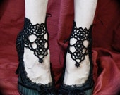 Tatted Lace Ankle Corsets - Grand Daisy