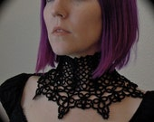 Tatted Throat Corset Lace Up Choker - The Grandest