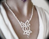 Tatted Lace Necklace - The Bride Wore White