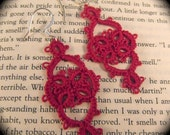 Tatted Earrings - Victoriana - Red