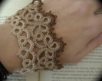 Tatted Cuff Bracelet - The Woman - Sepia Edition