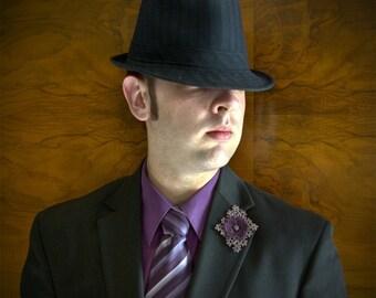 Tatted Lapel Pin - My Immortal Boutonniere - Custom