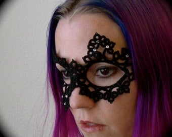 Tatted Lace Mask - She Chose Down
