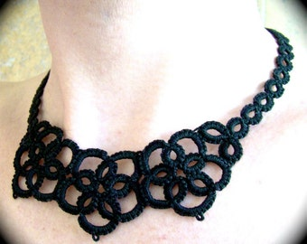 Tatted Lace Necklace - Flowers From The Past