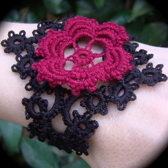 Tatted Cuff Bracelet - My Immortal Corsage