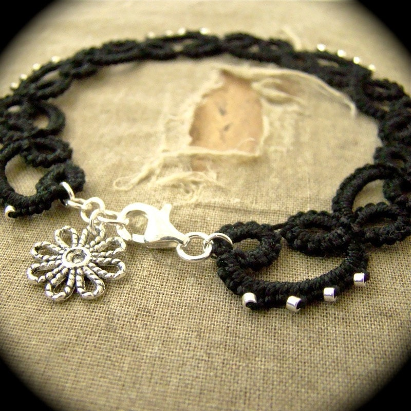 https://www.etsy.com/listing/100403677/tatted-lace-anklet-black-with-silver?