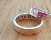thick as thieves - friendship, promise or wedding bands - hand stamped customizeable bands